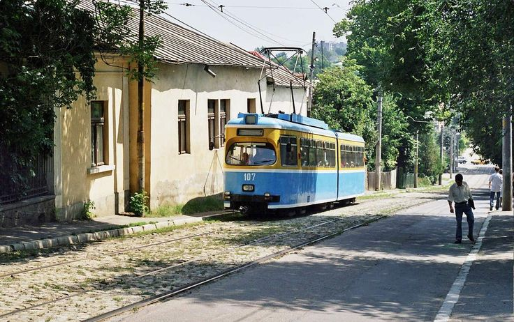 tramvai Iasi Romania street Moldova Moldavia