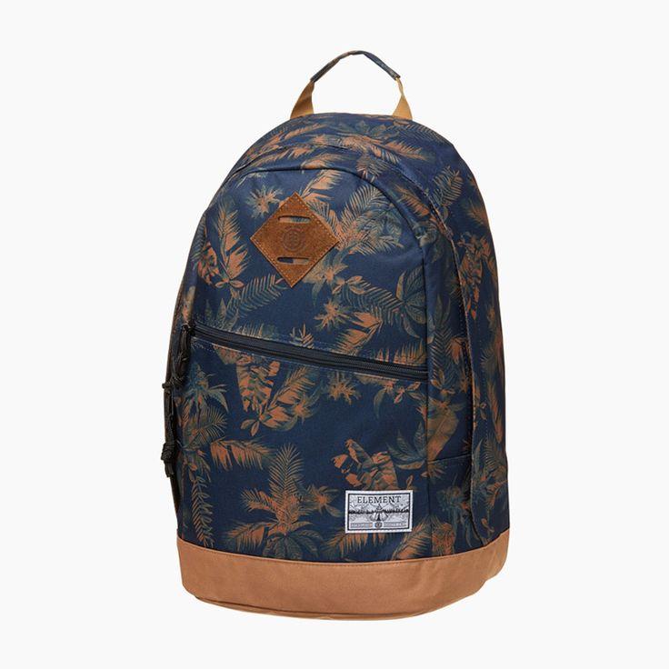 #element #spring #summer #backpack #bag #floral #print #tropicalthunder  http://www.urbag.cz/letni-panske-kosile-tenisky-doplnky-znacky-element-kolekce-tropical-thunder/