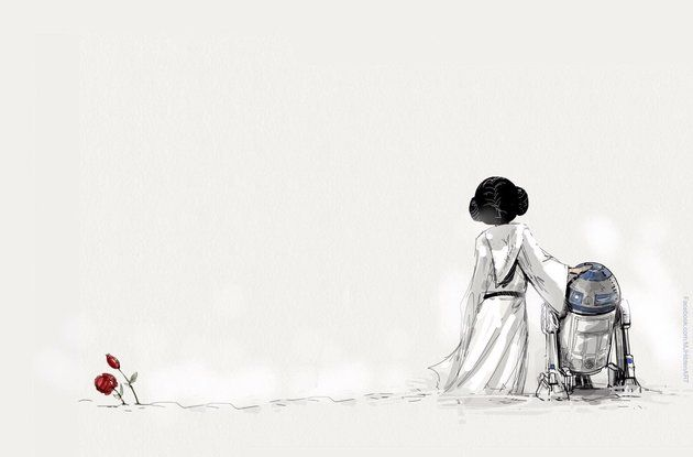 I felt a disturbance in the Force,As if millions of voices suddenly cried out in sadness and disbelief. RIP Carrie Fisher & Kenny Baker May the Force Be With You.