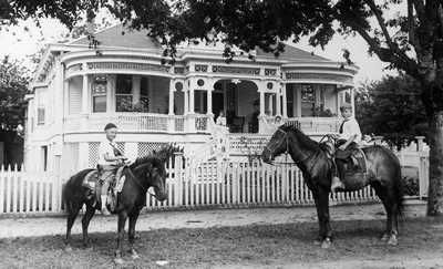 """Gus Cranz Mansion still stands at 701 West Ave in Schulenburg, TX. Built in 1874, this home received a historical marker in 1964, which reads, """"Built in strict German way (joints mitered and dowled) by Immigrant carpenters from Austria. Facade styled after memory of Austrian Villa..."""""""