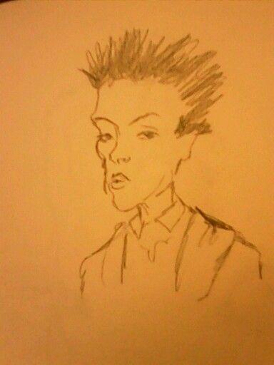 Scetch of Egon Schiele by Keylee181