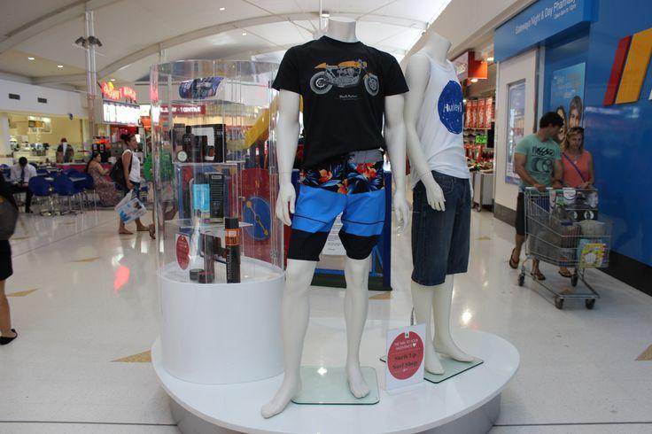 Men's looks from Surfs Up Surf Shop- Cockburn Gateway Visual Merchandising Febuary 2014.