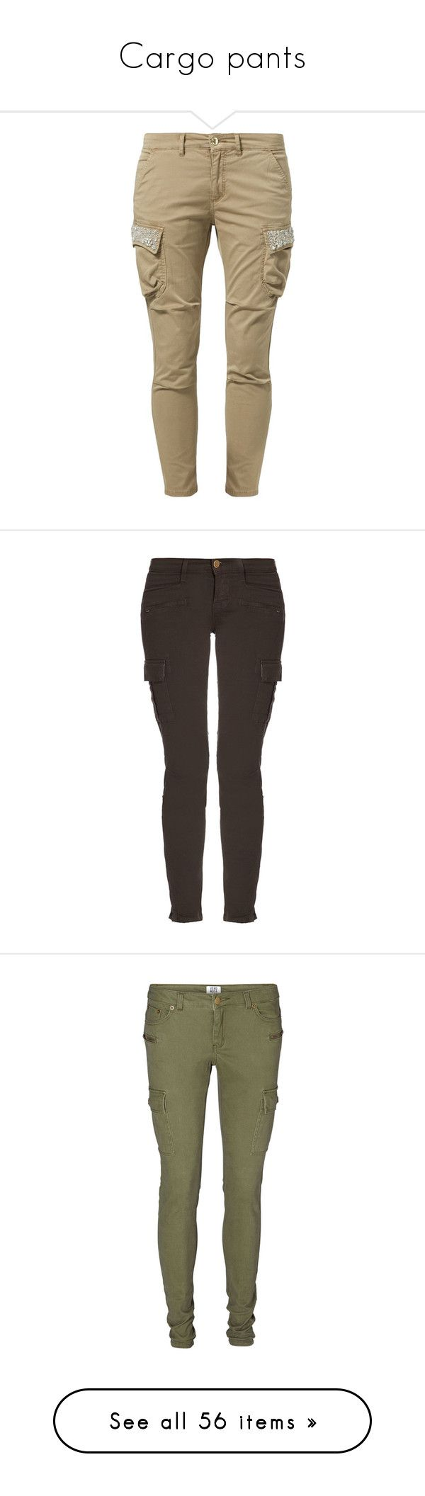 """Cargo pants"" by lydia-lee ❤ liked on Polyvore featuring pants, bottoms, jeans, pantalon, trousers, beige, brown pants, cargo pants, pocket pants and tall pants"