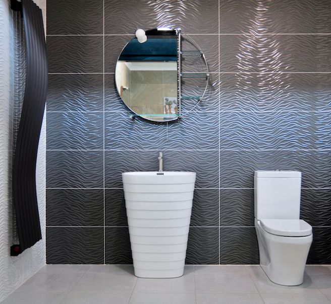 White Wave Bathroom Tiles New White White Wave Bathroom Tiles - Metallic bathroom tiles