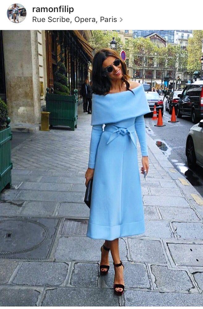 Ramona Filip blue dress