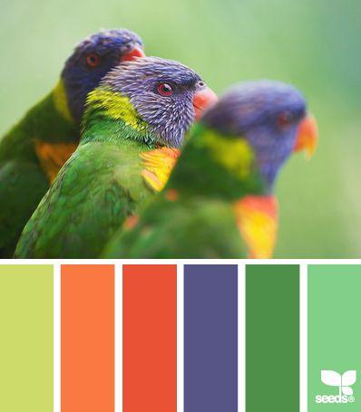 green colour pallette