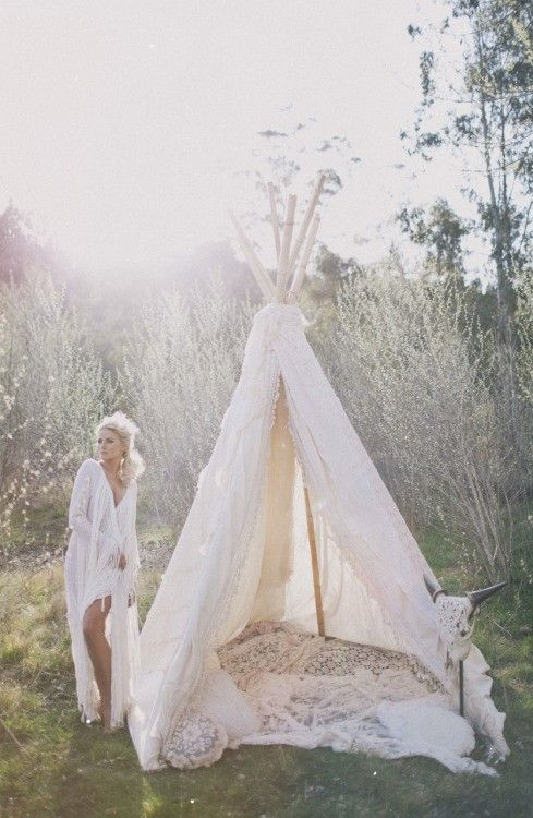 On the blog today - Mood Board: White.  #teepee #boho #gypsy #tribal #nomad #bohemian