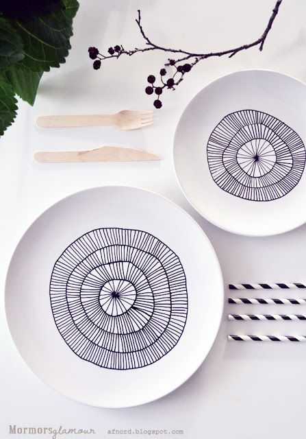DIY : vaisselle blanche à relooker