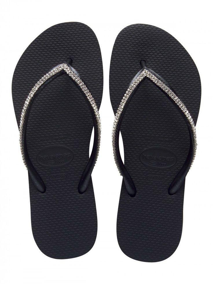HAVAIANAS SWAROVSKI CRYSTAL BLACKSS Get it here: http://bit.ly/1kJCoKE