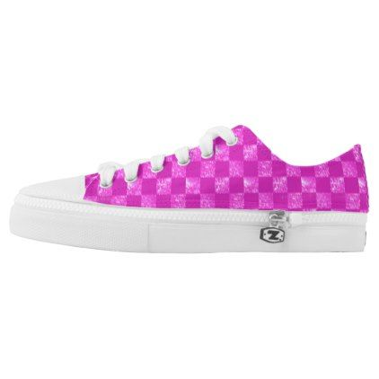 Pink Chess Sneakers For Girls - beauty gifts stylish beautiful cool