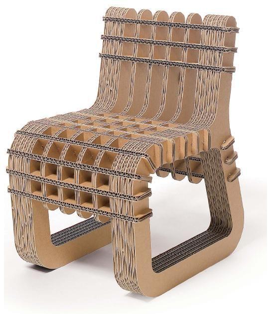 Les 25 meilleures id es de la cat gorie chaise en carton for Meuble en carton