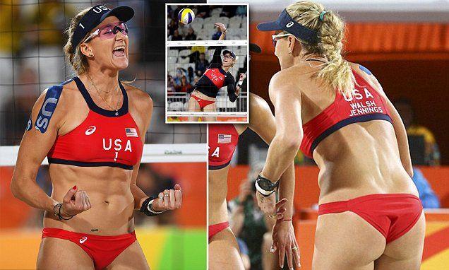 Team USA's beach volleyball's customized bikinis at Rio 2016