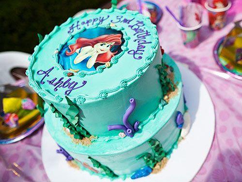 ariel birthday party -cake