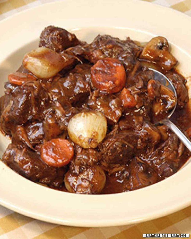 """Boeuf Bourguignon  ~  recipe adapted from Julia Child's """"Mastering the Art of French Cooking, Volume 1"""""""
