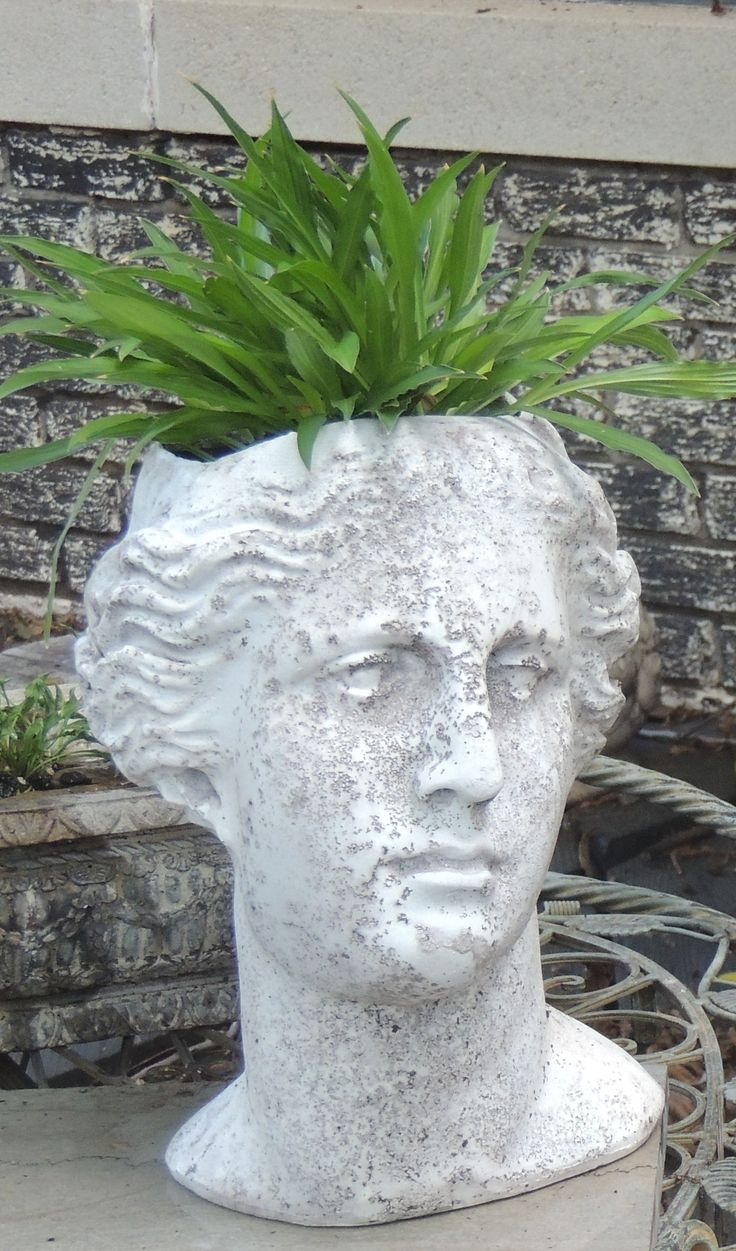 217 Best Images About Head Planters On Pinterest Gardens