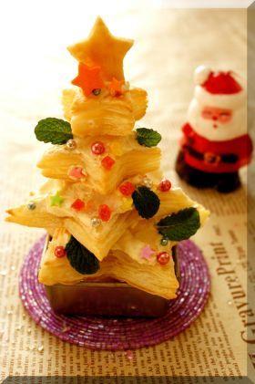 「* パイシートde簡単クリスマスツリー♪」cherry♪ | お菓子・パンのレシピや作り方【corecle*コレクル】
