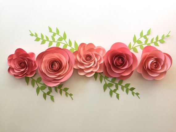 paper flowers arrangement - love the leaves