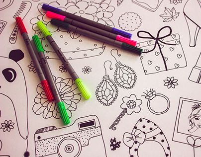 """Check out new work on my @Behance portfolio: """"Posters for coloring"""" http://be.net/gallery/34286561/Posters-for-coloring"""