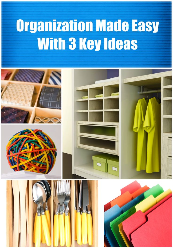 As much as we try to get and stay organized, we fall back into old routines. Here are three key ideas you can put into play in order to help get your life in order and make sure it stays that way!