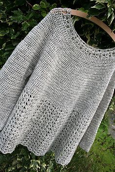 Crocheted Poncho Patterns Round-Up - Seven Alive