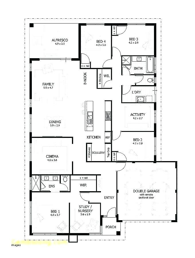 5 Bedroom Bungalow Plans In Nigeria 5 Bedroom House Plans Ideas 5