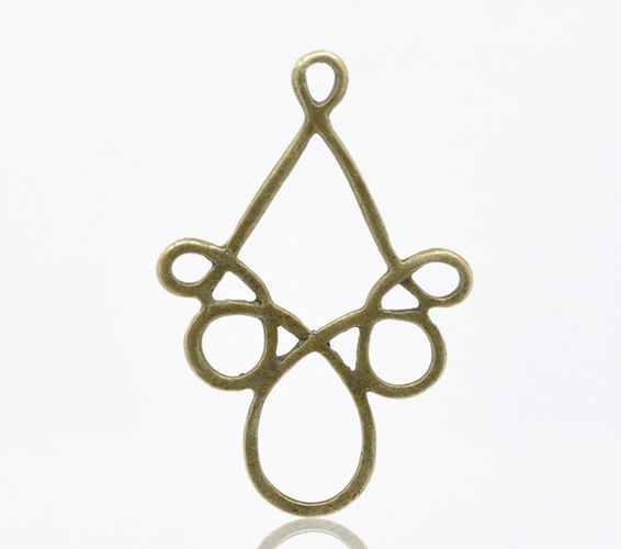 Antique Bronze Connectors/Pendants. Starting at $5 on Tophatter.com!