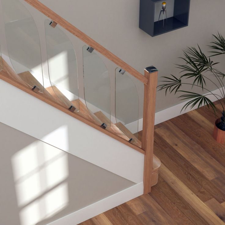 Best Glass Staircase Balustrade Kit Glass Stair Parts Oak 400 x 300