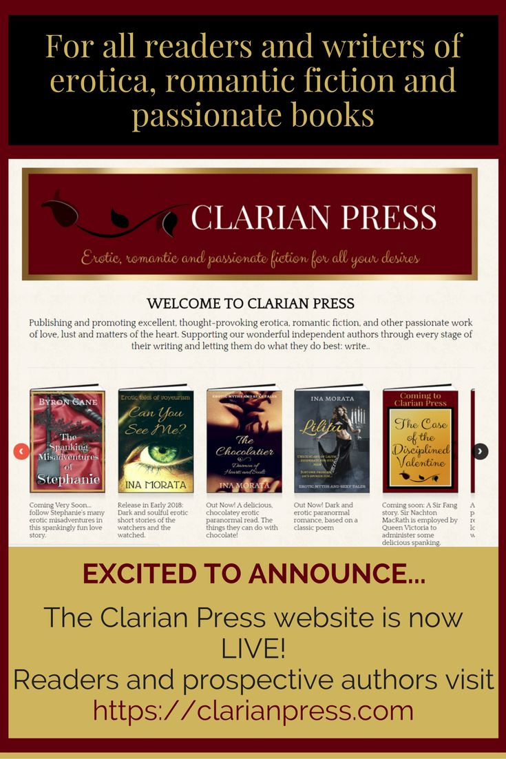 We are really excited: The Clarian Press website is now LIVE and fully  functional! Publishing erotica and erotic romance, romant…