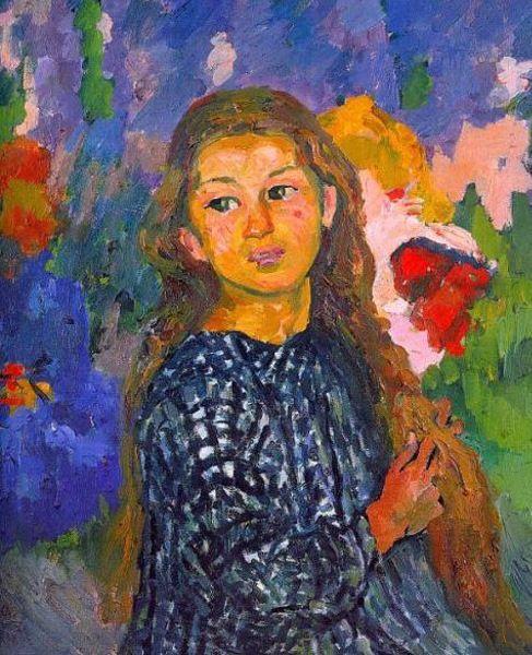 Portrait of Ottilia Giacometti by Giovanni Giacometti