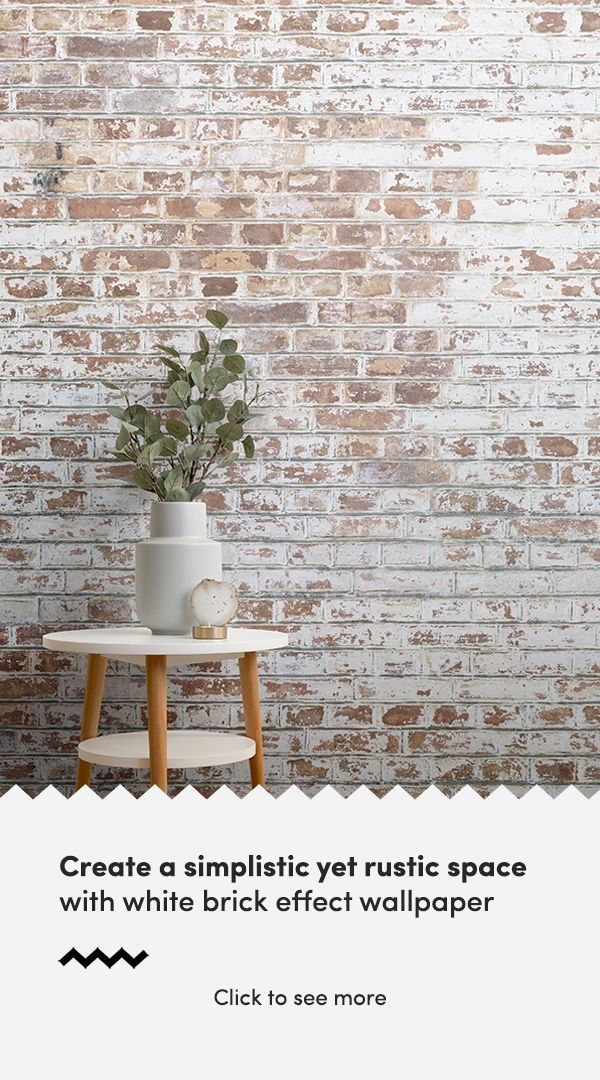 Painted White Brick Wall Mural Industrial Style Muralswallpaper Brick Effect Wallpaper Painted Brick Walls Brick Wallpaper Bedroom