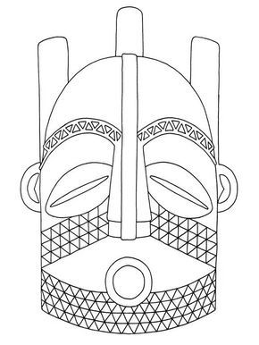 17 best year 11 art mock exam disguise images on pinterest this image is designed to help you with drawing or tracing this african mask pronofoot35fo Gallery