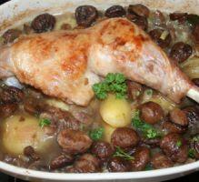Recette - Cuisse de dinde aux marrons - Proposée par 750 grammes