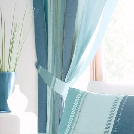 Teal Finley Pencil Pleat Curtains | Dunelm