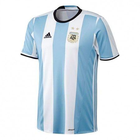 Argentina 2016 Hjemmedrakt Kortermet.  http://www.fotballpanett.com/argentina-2016-hjemmedrakt-kortermet-1.  #fotballdrakter