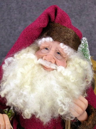 Check out the amazing attention to detail on this handmade Santa by Daine Troutman
