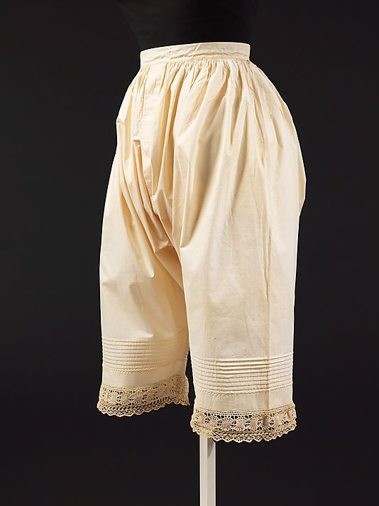 Drawers  Date:  1876  Culture:  American  Medium: cotton  Dimensions: Length at CB: 29 in. (73.7 cm)