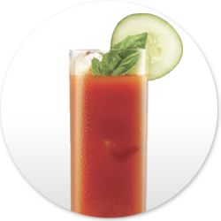 Our Skinny Bloody Mary, made with our Cucumber Vodka. Skinnygirl™ Cucumber Vodka with Natural Flavors, 30% Alc./Vol. ©2013 Skinnygirl Cocktails, Deerfield, IL (Per 1.5 oz – Average Analysis: Calories 75.8, Carbohydrates 0g, Protein 0g, Fat 0g) A LADY ALWAYS DRINKS RESPONSIBLY™