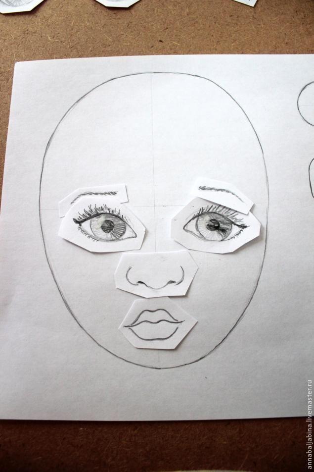 Очень простой способ создания неповторимого лица текстильной кукле - Рукоделие - Моя копилочка