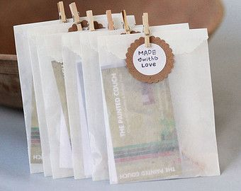 3 1/4 x 4 5/8 kristalpapier tassen set van 250 || Bruiloft gunst zakken, behandelen tassen, visitekaartje enveloppen