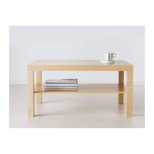 """LACK Coffee table - birch effect, 35 3/8x21 5/8 """" - IKEALength: 35 3/8 """" Width: 21 5/8 """" Height: 17 3/4 """""""