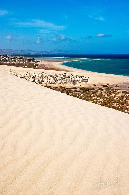 La arena de Jandía - Fuerteventura, Islas Canarias