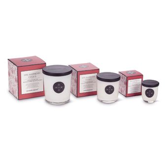 Raspberry Coulis Aromabotanicals scented candles, in three sizes. Buy them here: http://www.ebay.ca/itm/Aromabotanical-25oz-14oz-or-5oz-Scented-Candle-Raspberry-Coulis-Candle-/201209909915?ssPageName=STRK:MESE:IT