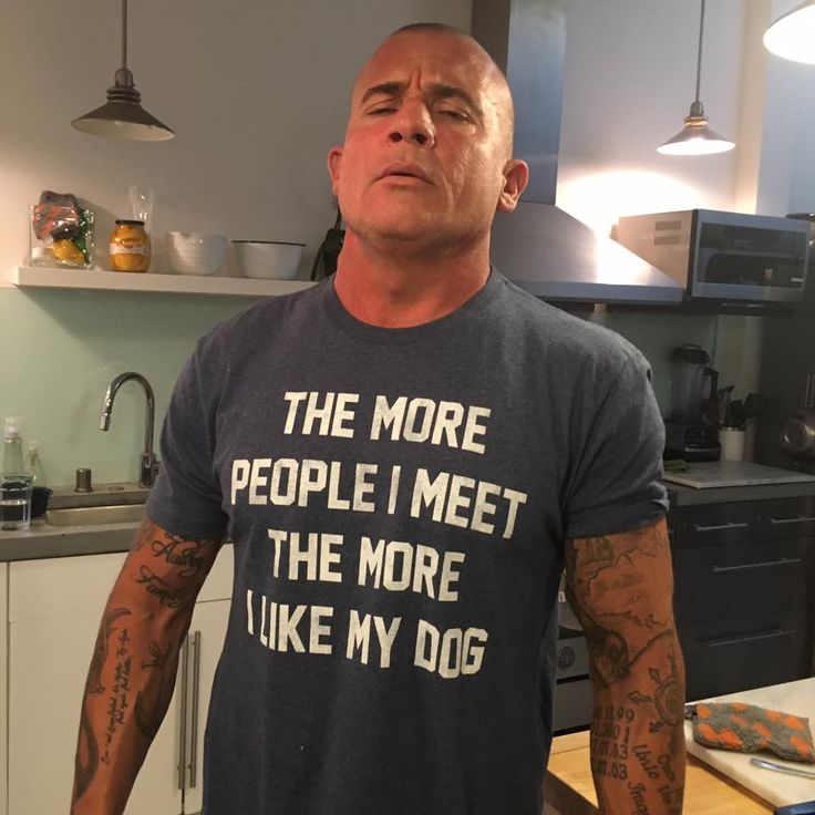 Dominic Purcell with a cute shirt :)