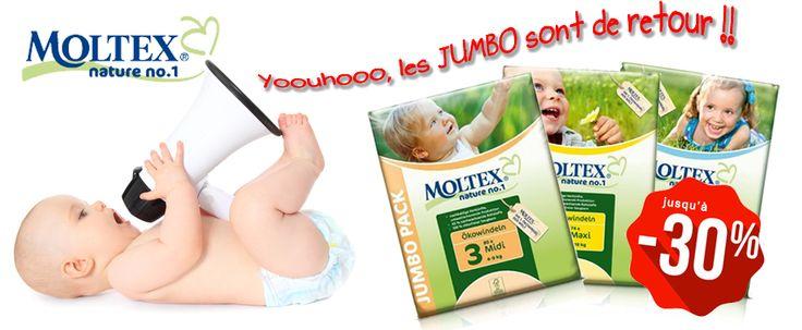 Couches jetables ecologiques Moltex Jumbo pack de retour