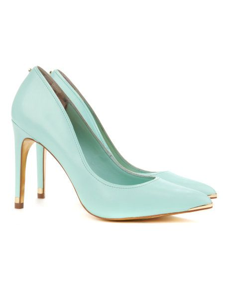 THAYA - Leather court shoe - Mint | Womens | Ted Baker