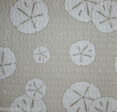 Sand Dollar Quilt Set 6 Pc Queen With Accent Pillows