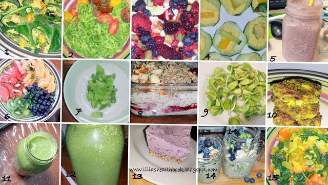 Lilia's Healthbook: Food Picture Collage: cashew-coconut blueberry ice...