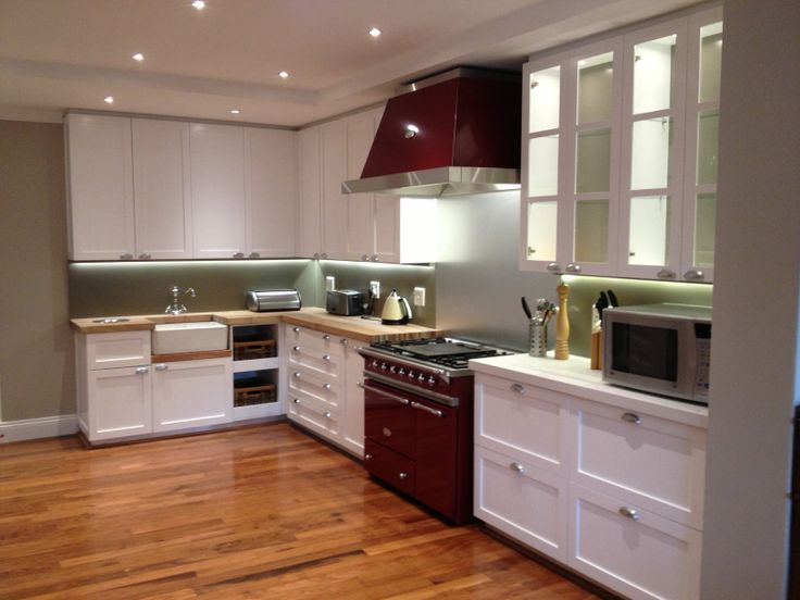 Wilde At Heart - modern kitchen, wooden counter tops, teak floors, amazing lacanche oven