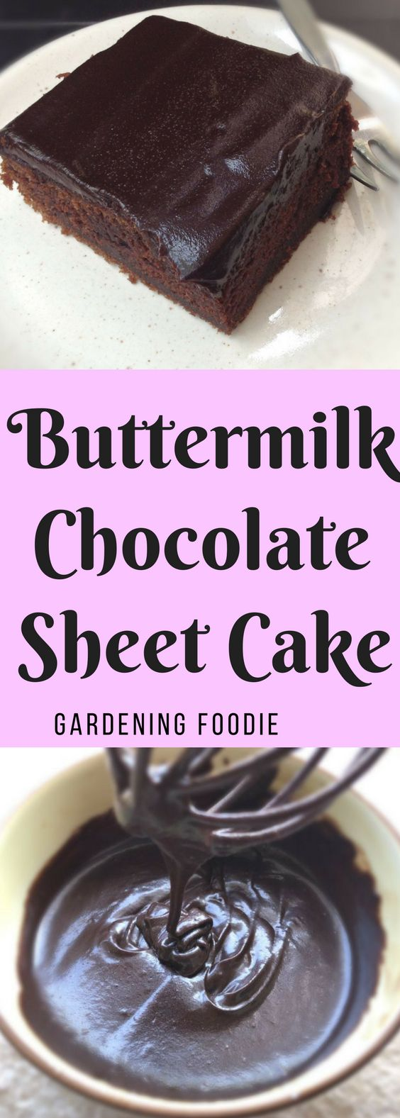 I have baked many types of chocolate cake, but no chocolate cake recipe can touch the absolute delight and rich flavour of the buttermilk chocolate sheet cake. Sheet cakes turns out perfect every time. They are never dry, always perfectly moist.Perfect to transport  so great for school bake sales, parties, and picnics.  You can bake, frost, cut and transport sheet cakes in the same tin. How much easier can it get?
