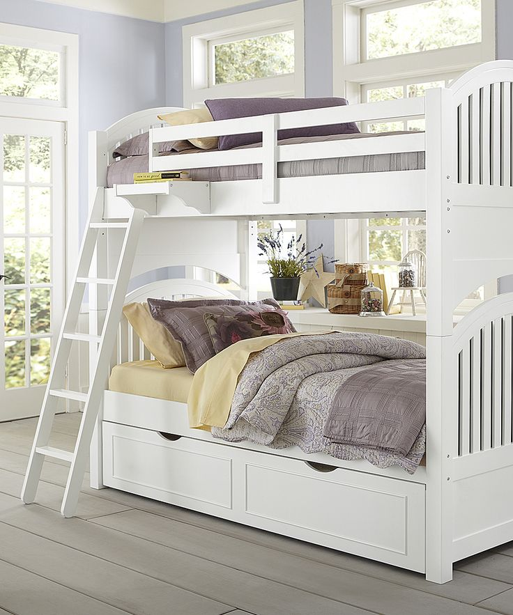 White Lake House Adrian Twin Over Twin Trundle Bunk Bed